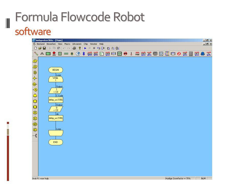 Formula Flowcode Robot software