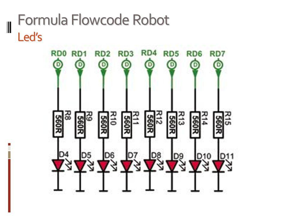 Formula Flowcode Robot Led's
