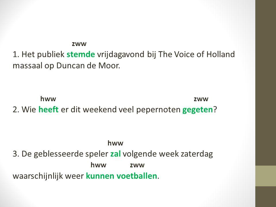 zww 1. Het publiek stemde vrijdagavond bij The Voice of Holland massaal op Duncan de Moor. hww zww.