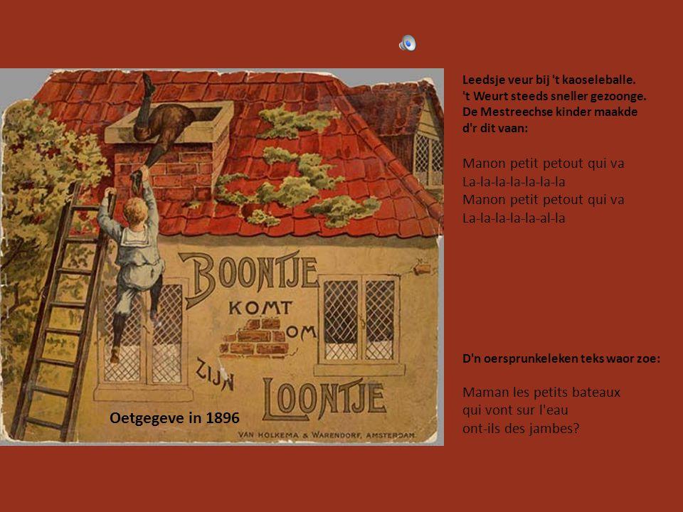 Oetgegeve in 1896 Manon petit petout qui va La-la-la-la-la-la-la