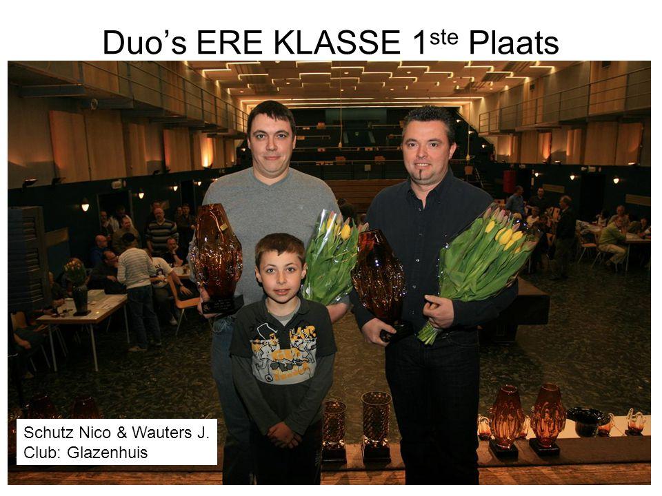 Duo's ERE KLASSE 1ste Plaats