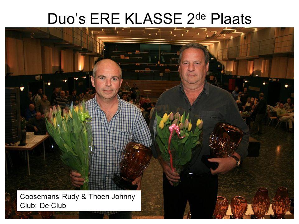 Duo's ERE KLASSE 2de Plaats