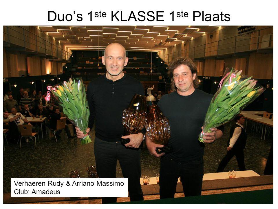 Duo's 1ste KLASSE 1ste Plaats