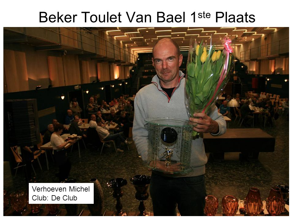 Beker Toulet Van Bael 1ste Plaats