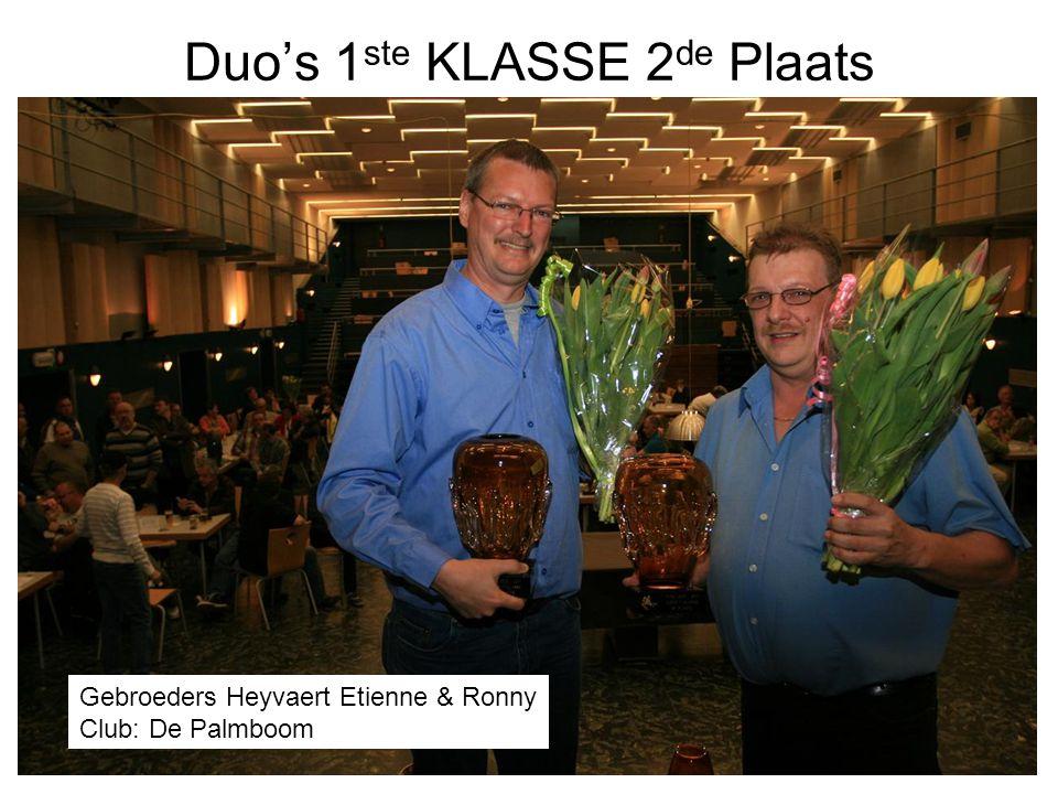 Duo's 1ste KLASSE 2de Plaats