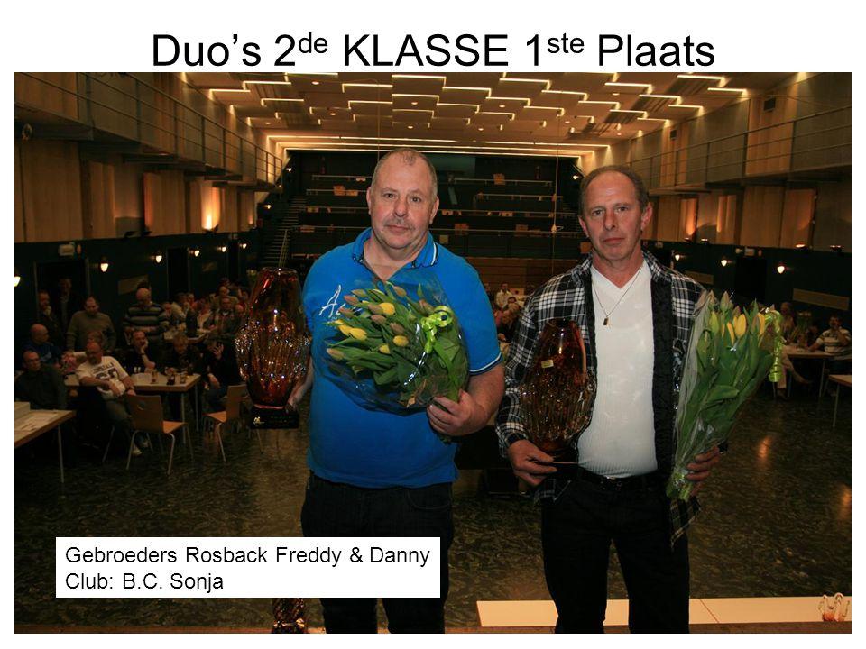 Duo's 2de KLASSE 1ste Plaats