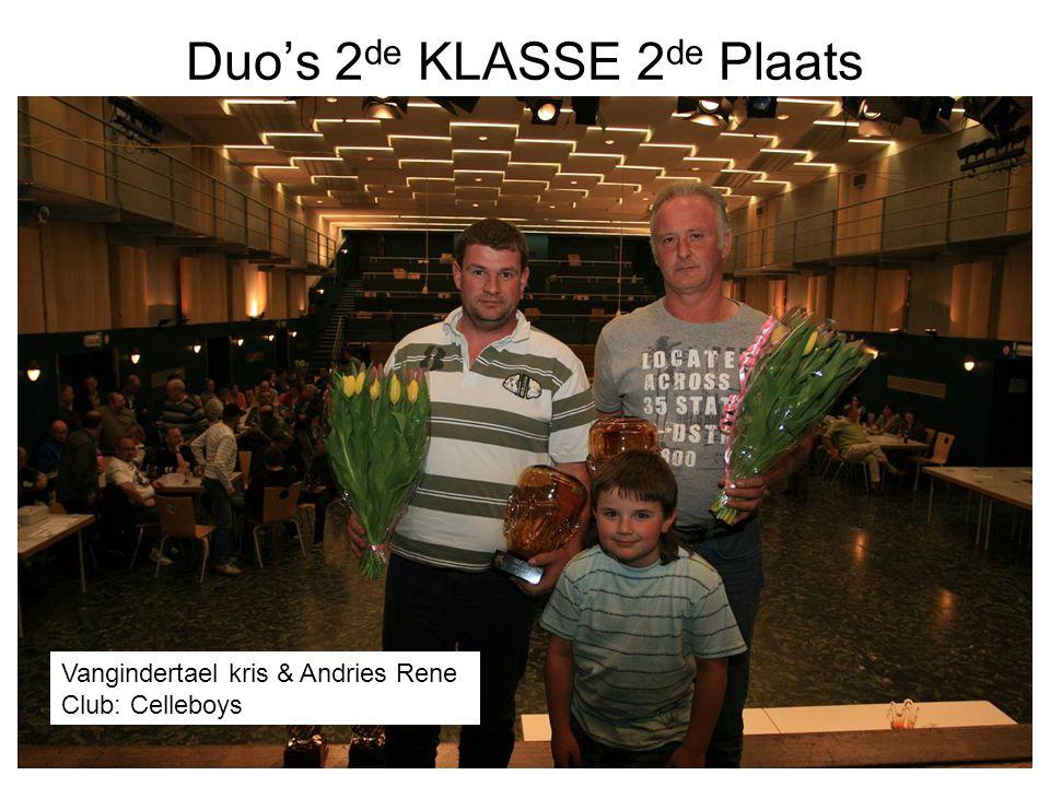Duo's 2de KLASSE 2de Plaats