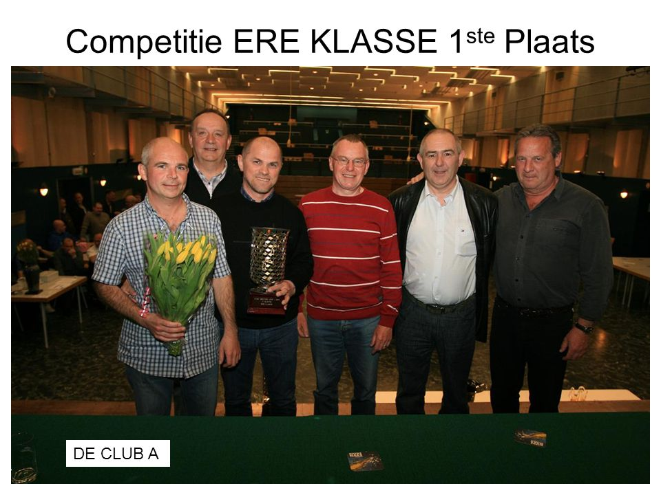 Competitie ERE KLASSE 1ste Plaats