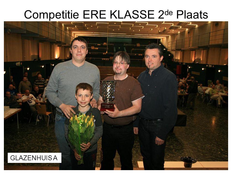 Competitie ERE KLASSE 2de Plaats