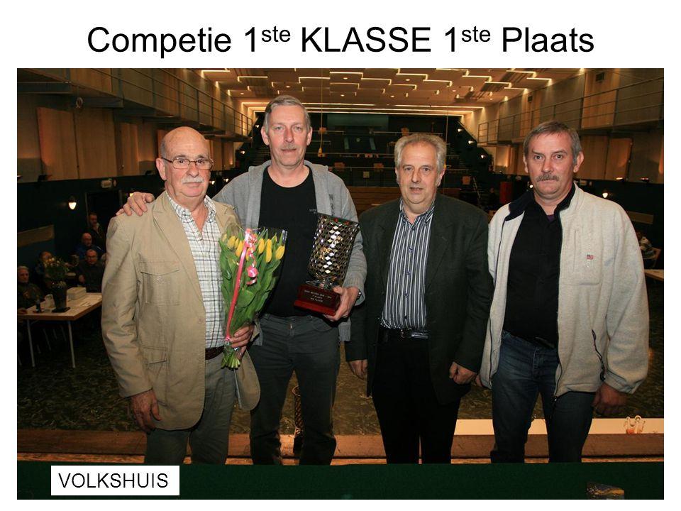 Competie 1ste KLASSE 1ste Plaats