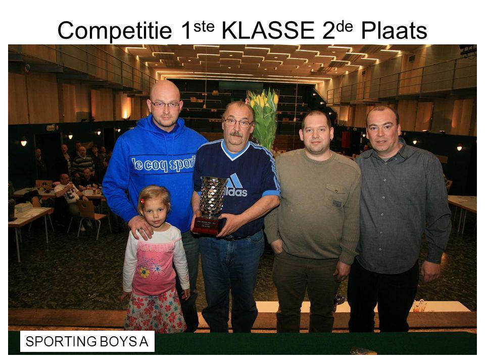 Competitie 1ste KLASSE 2de Plaats