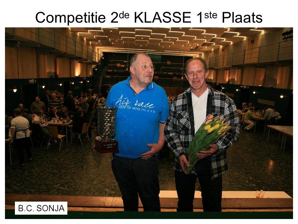 Competitie 2de KLASSE 1ste Plaats