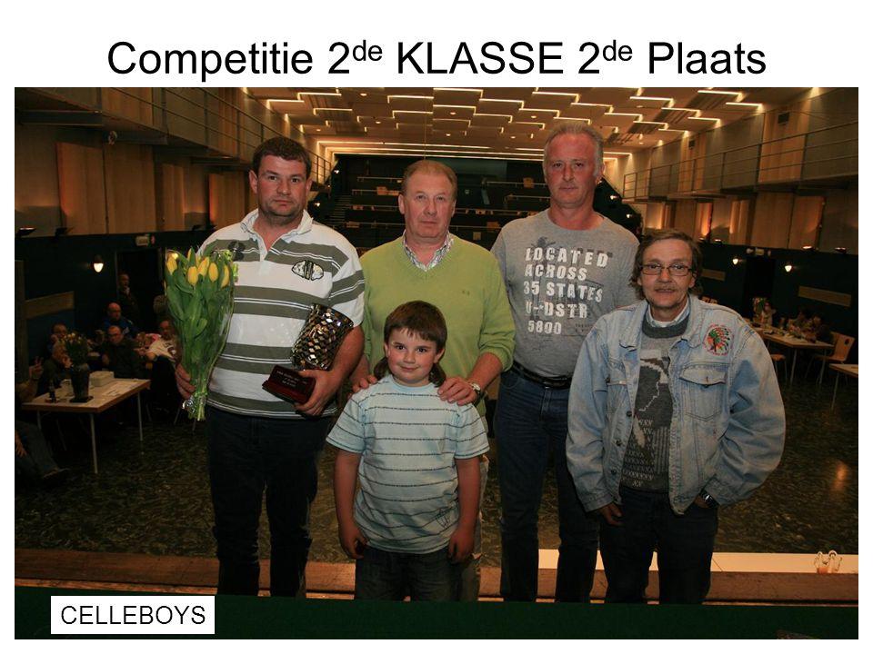 Competitie 2de KLASSE 2de Plaats