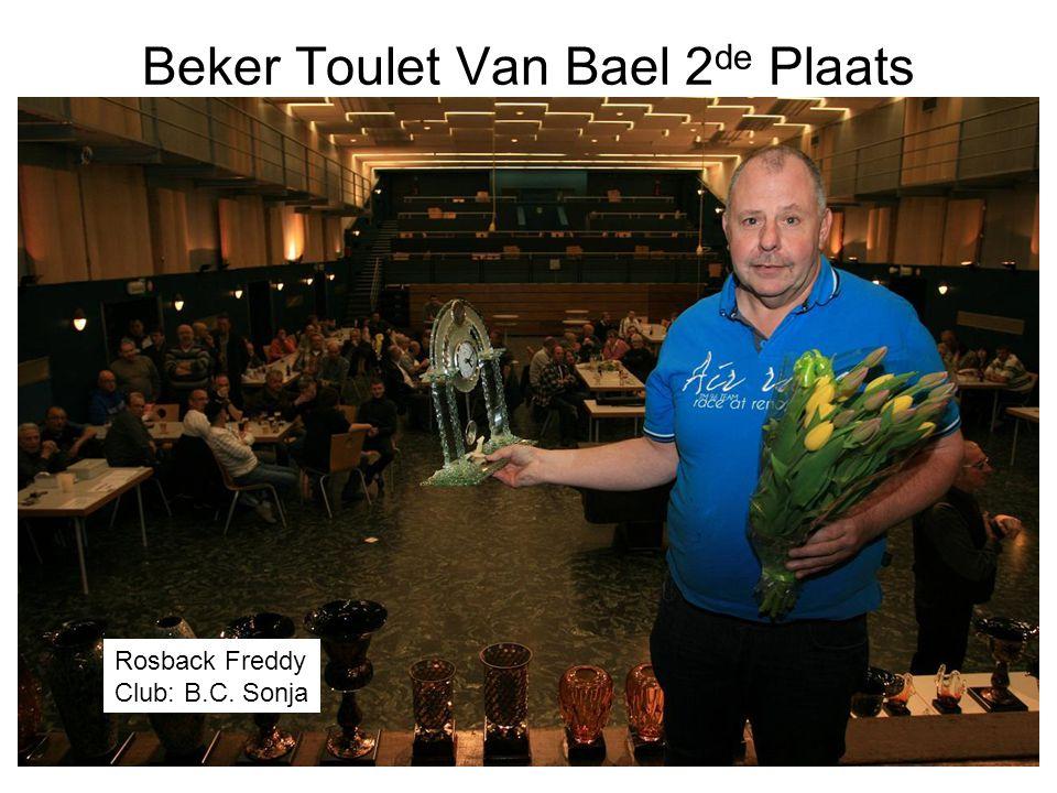 Beker Toulet Van Bael 2de Plaats