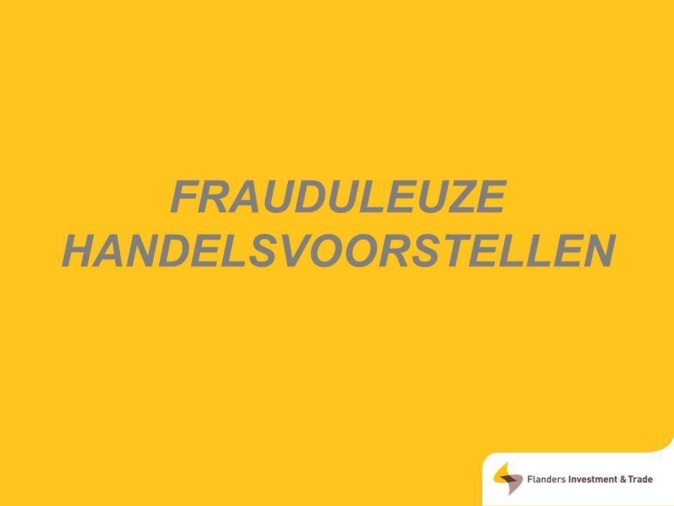 Frauduleuze handelsvoorstellen
