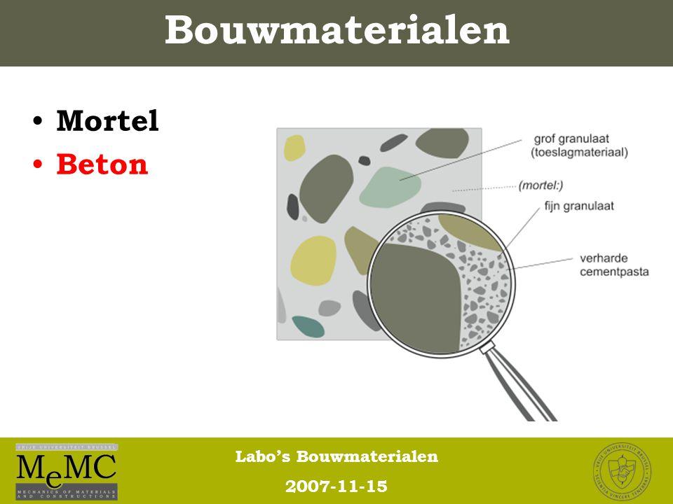 Bouwmaterialen Mortel Beton
