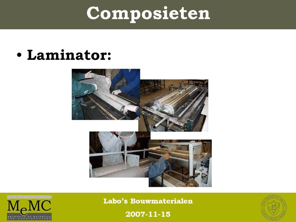 Composieten Laminator:
