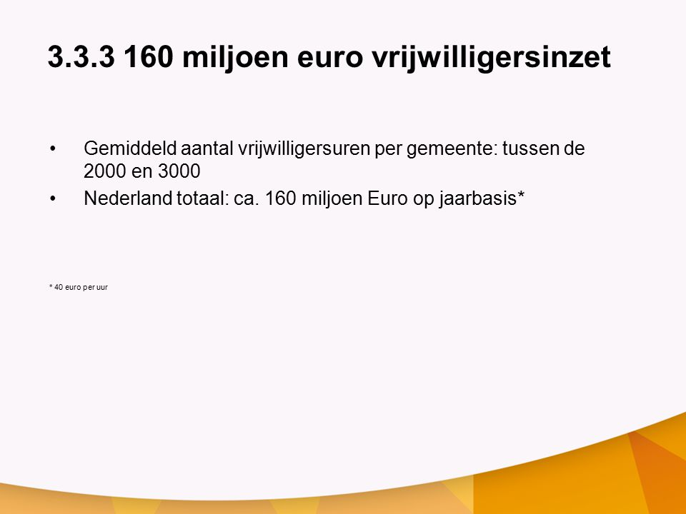 3.3.3 160 miljoen euro vrijwilligersinzet