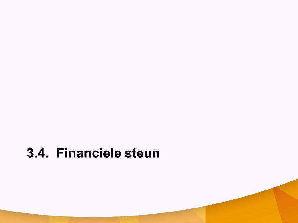 3.4. Financiele steun