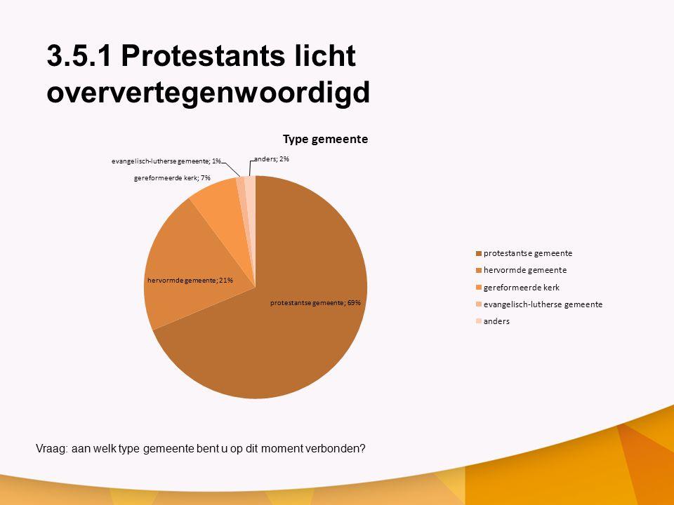 3.5.1 Protestants licht oververtegenwoordigd