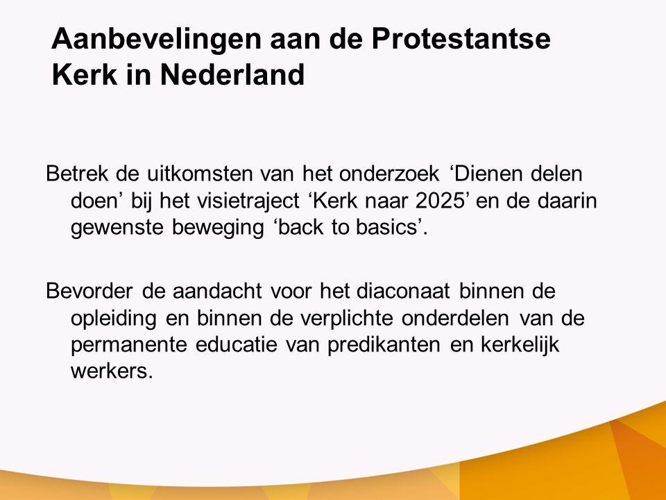 Aanbevelingen aan de Protestantse Kerk in Nederland