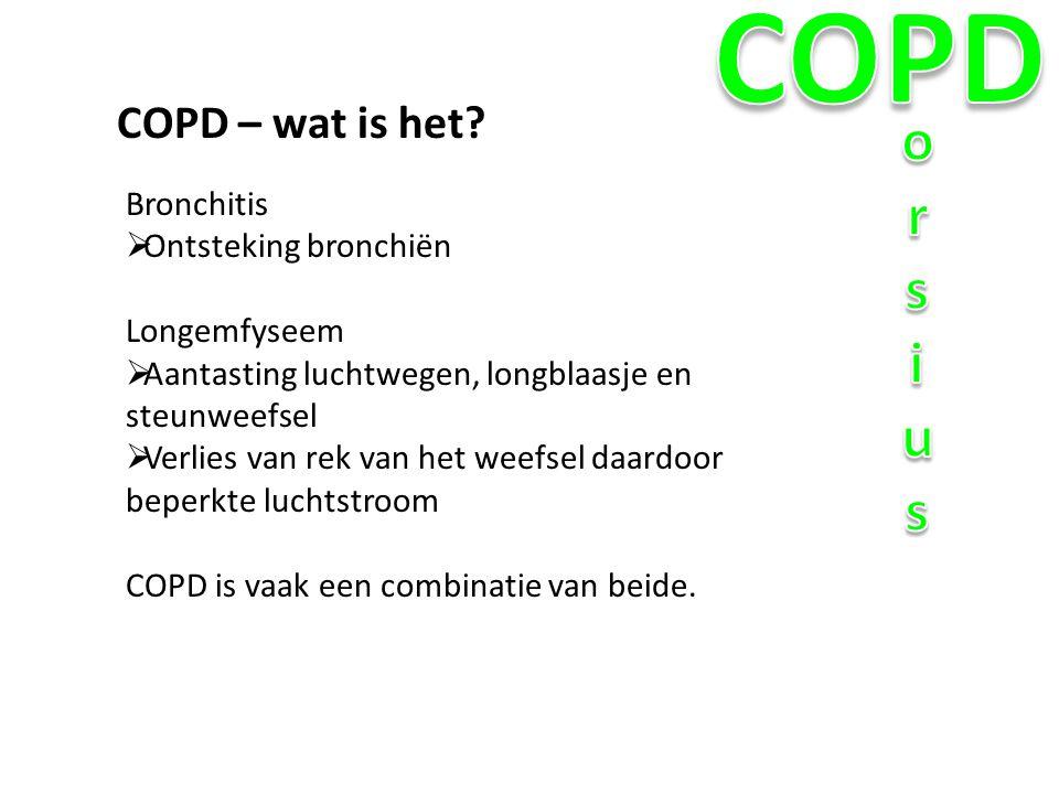 COPD orsius COPD – wat is het Bronchitis Ontsteking bronchiën