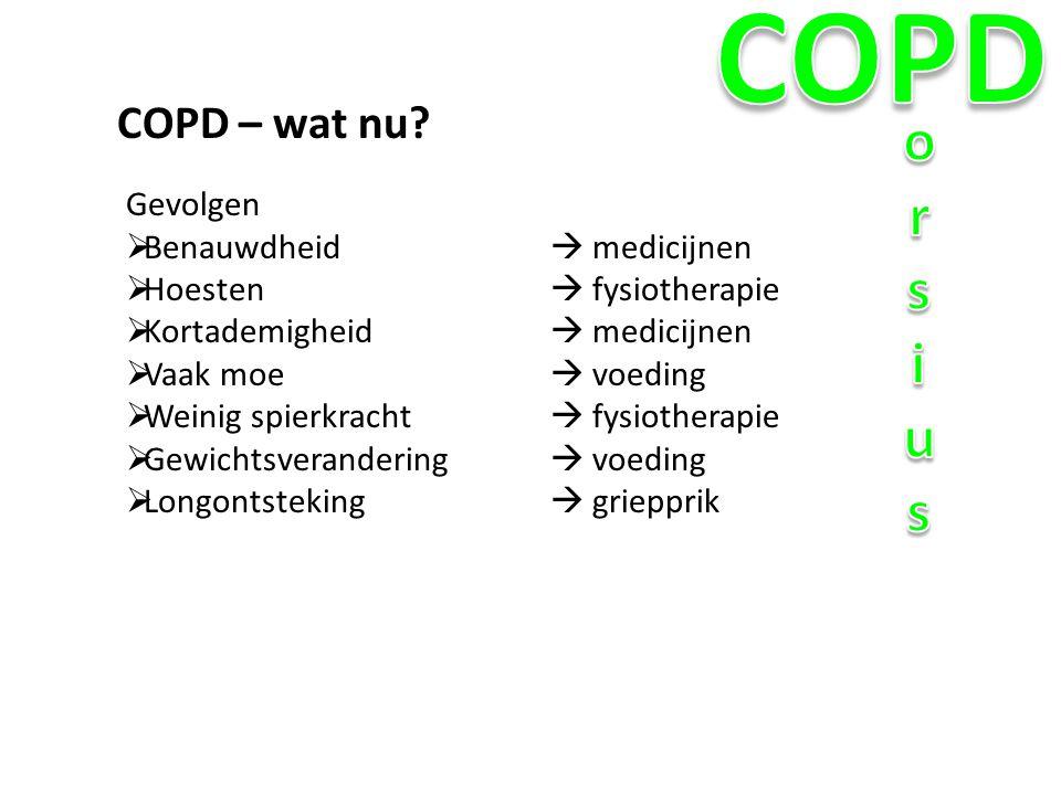 COPD orsius COPD – wat nu Gevolgen Benauwdheid  medicijnen
