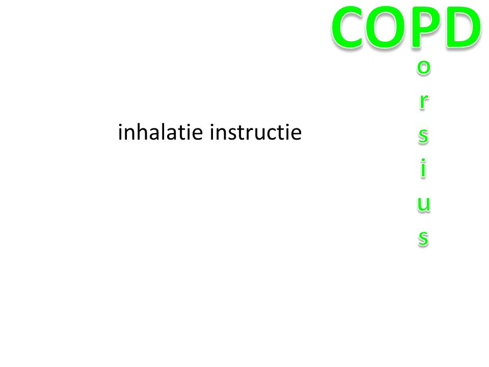 COPD orsius inhalatie instructie