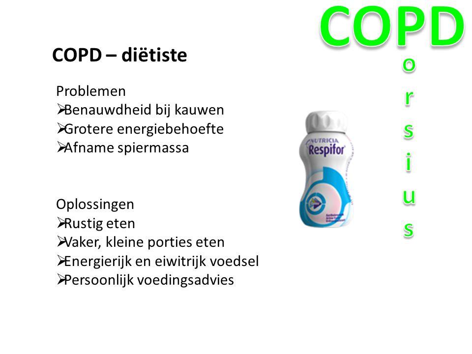 COPD orsius COPD – diëtiste Problemen Benauwdheid bij kauwen