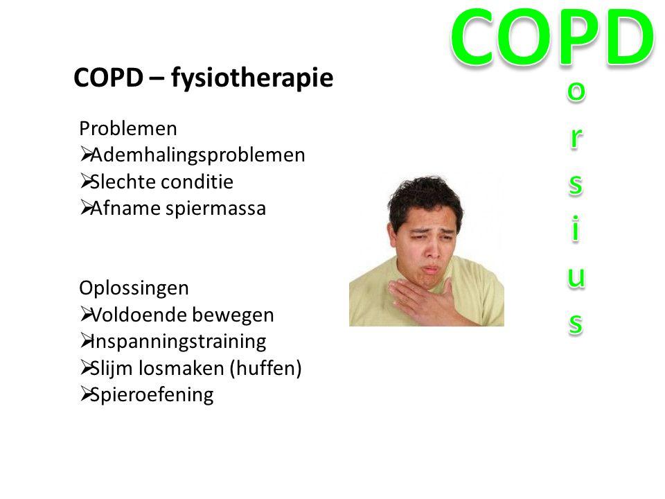 COPD orsius COPD – fysiotherapie Problemen Ademhalingsproblemen