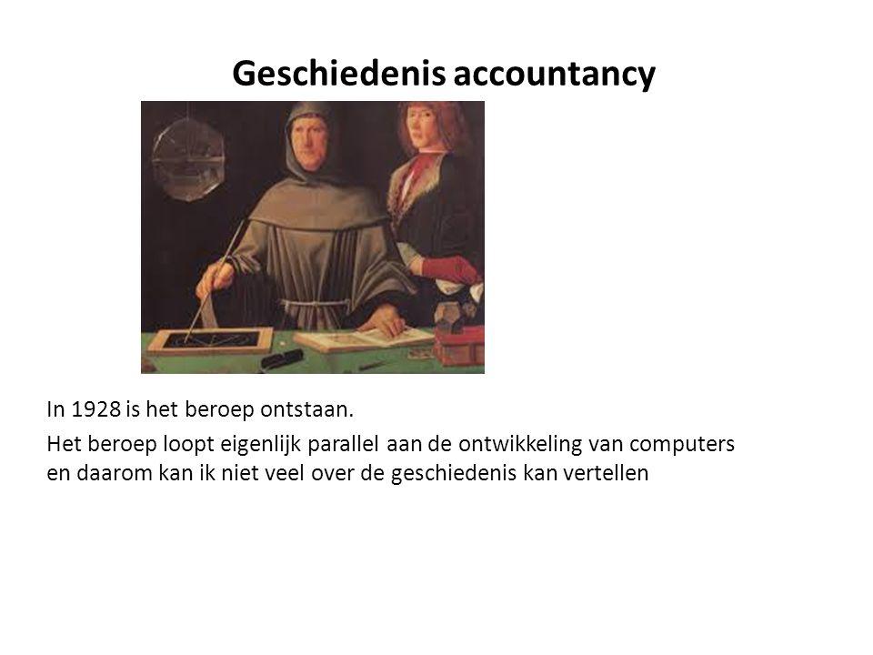 Geschiedenis accountancy