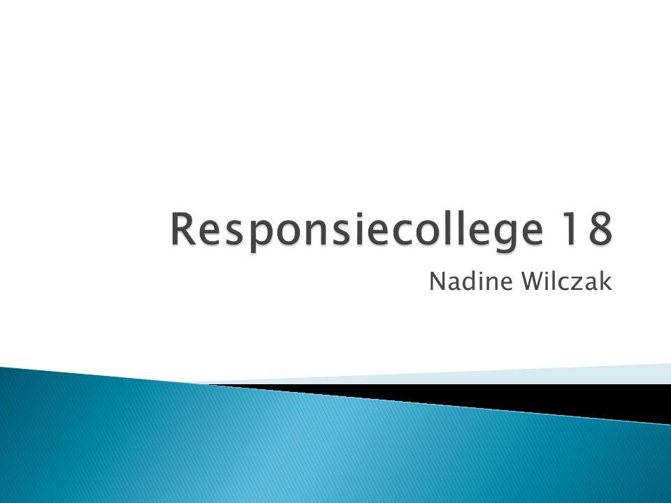 Responsiecollege 18 Nadine Wilczak