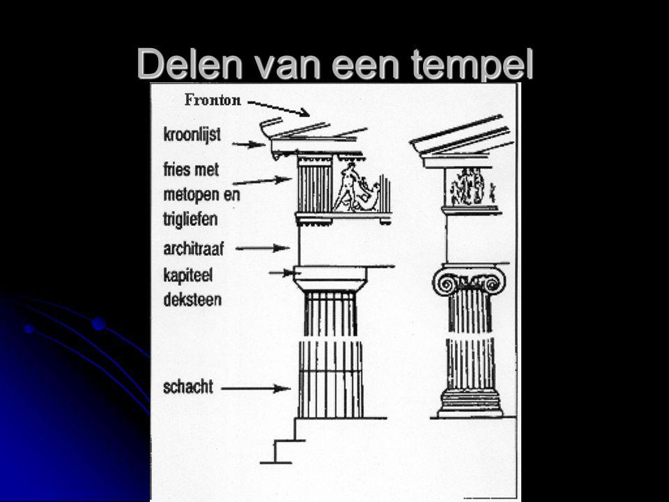 Delen van een tempel