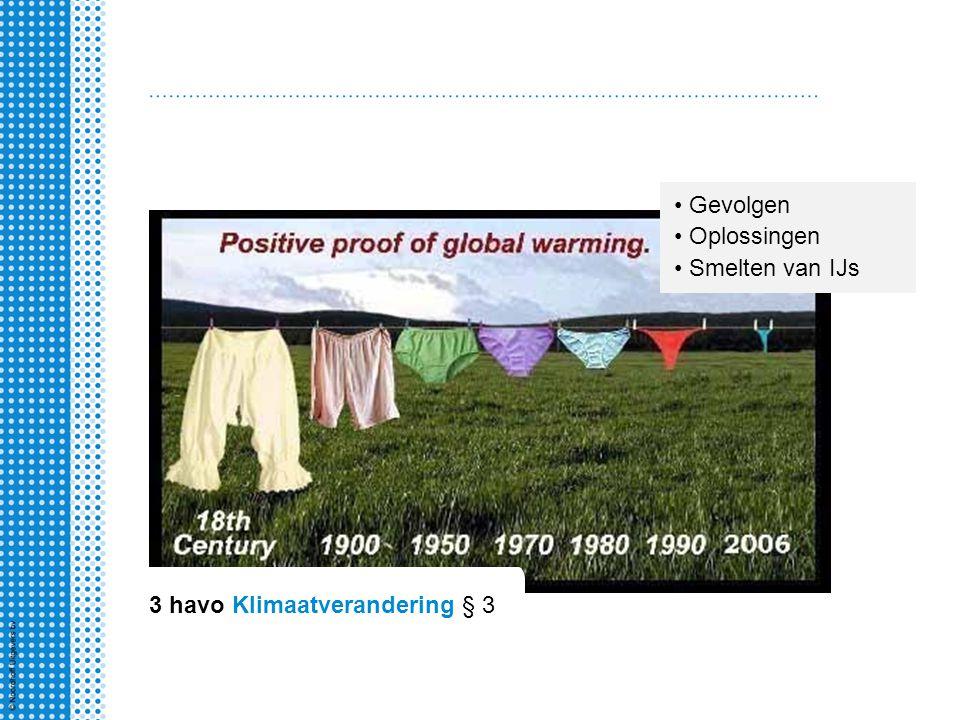 3 havo Klimaatverandering § 3
