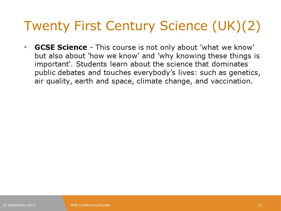 Twenty First Century Science (UK)(2)