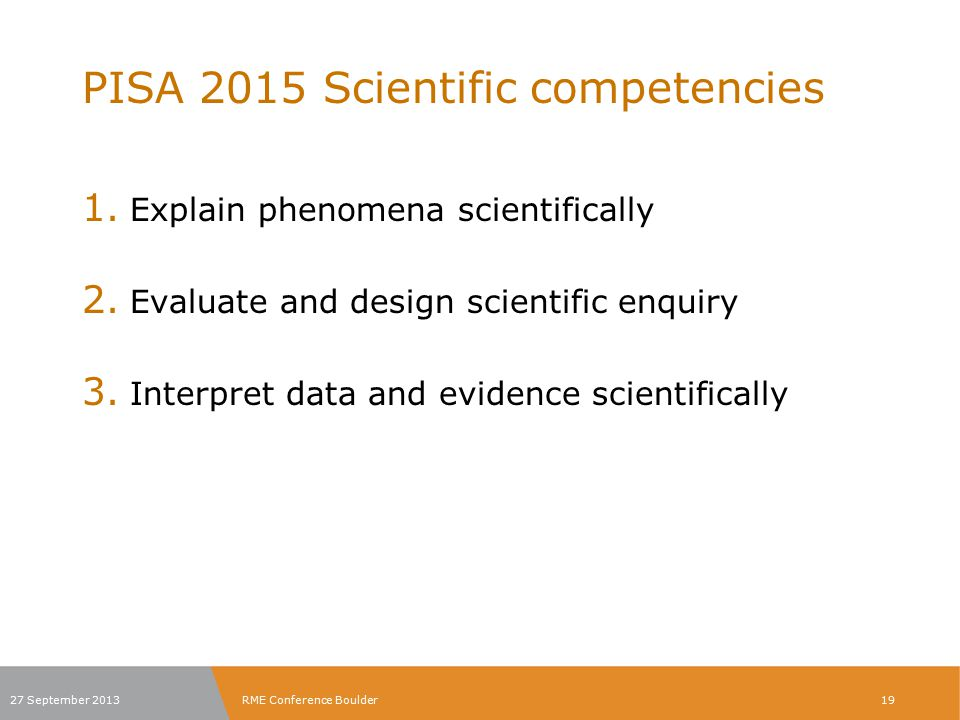 PISA 2015 Scientific competencies