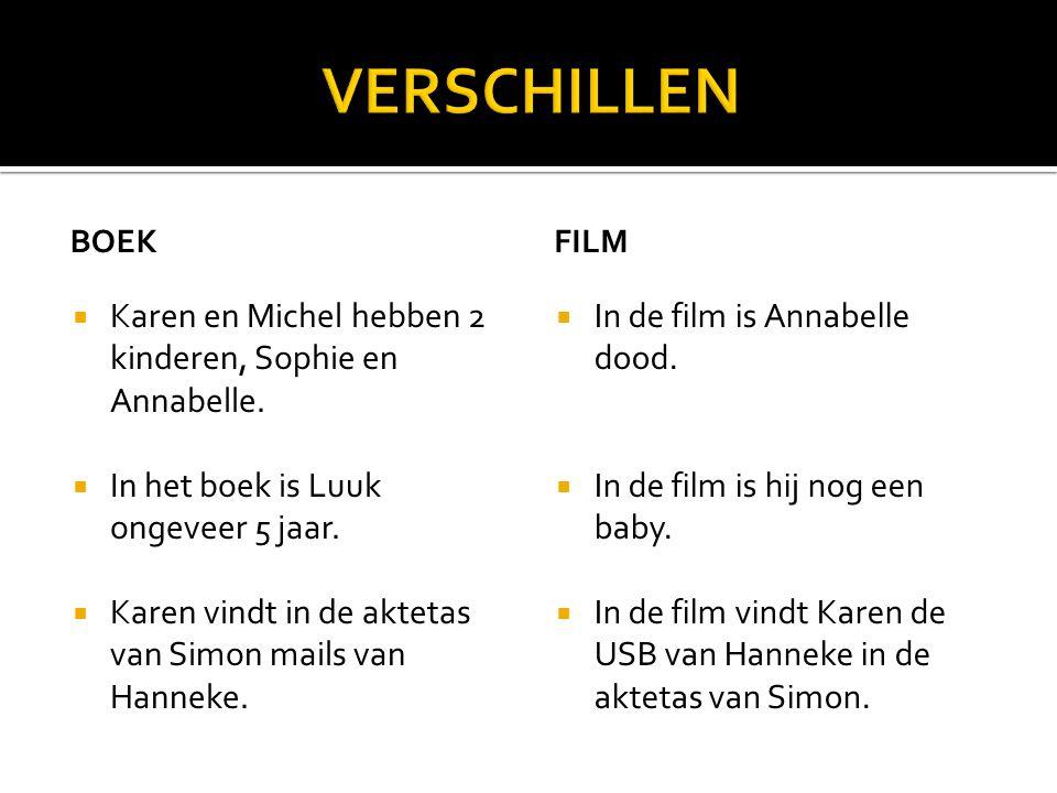 VERSCHILLEN Karen en Michel hebben 2 kinderen, Sophie en Annabelle.