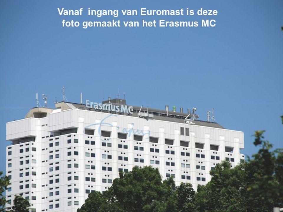 Vanaf ingang van Euromast is deze foto gemaakt van het Erasmus MC