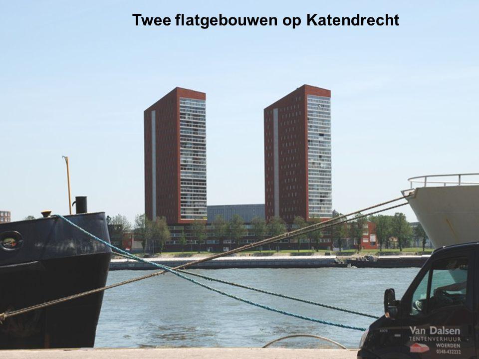 Twee flatgebouwen op Katendrecht