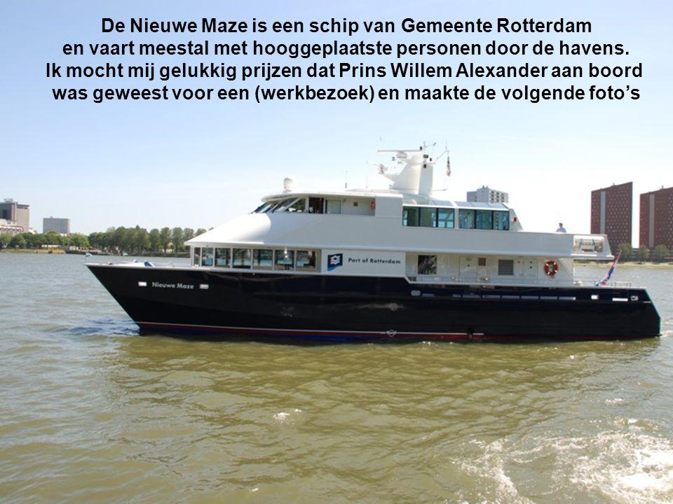 De Nieuwe Maze is een schip van Gemeente Rotterdam
