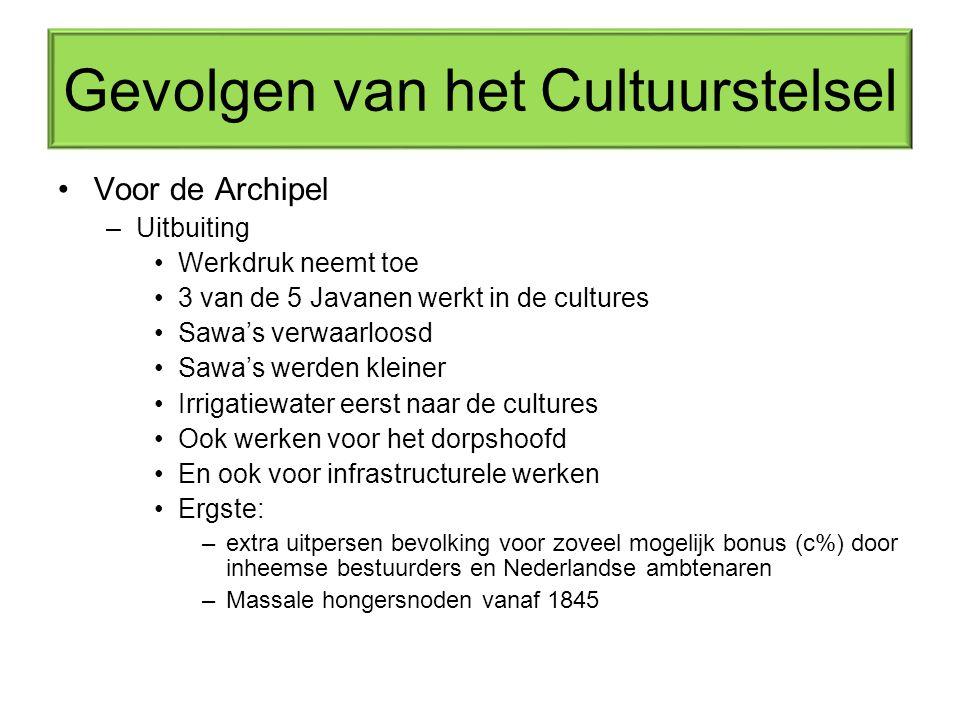 Gevolgen van het Cultuurstelsel