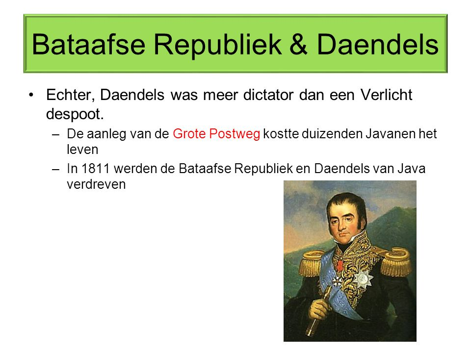 Bataafse Republiek & Daendels