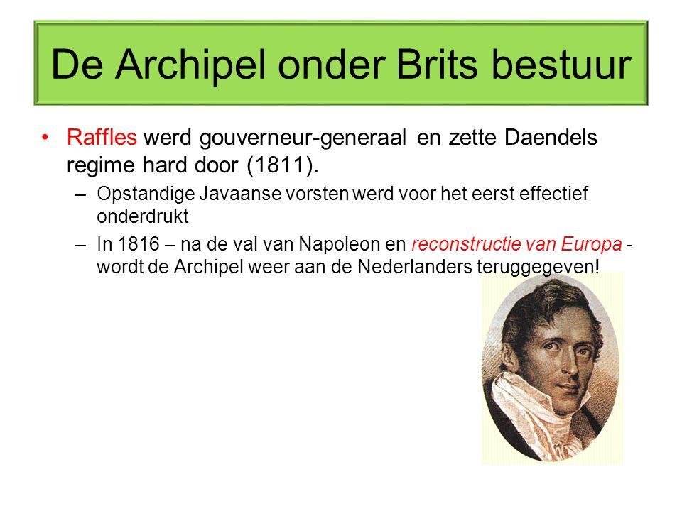 De Archipel onder Brits bestuur