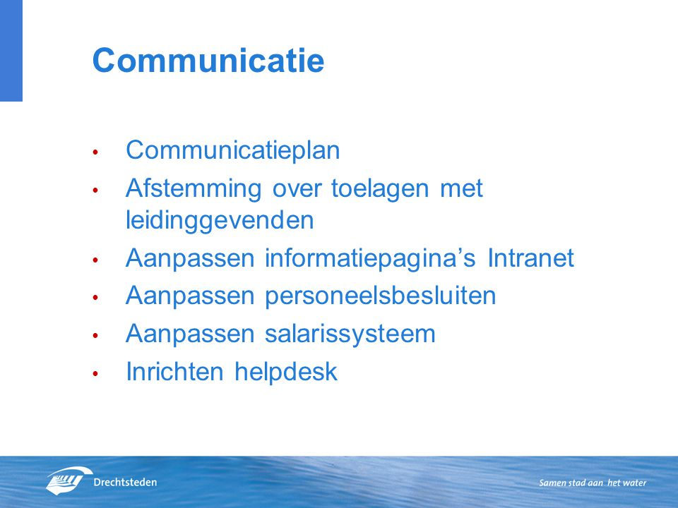Communicatie Communicatieplan