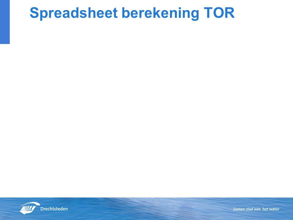 Spreadsheet berekening TOR