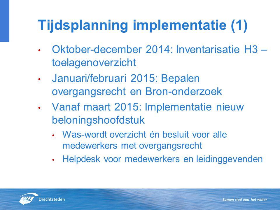 Tijdsplanning implementatie (1)