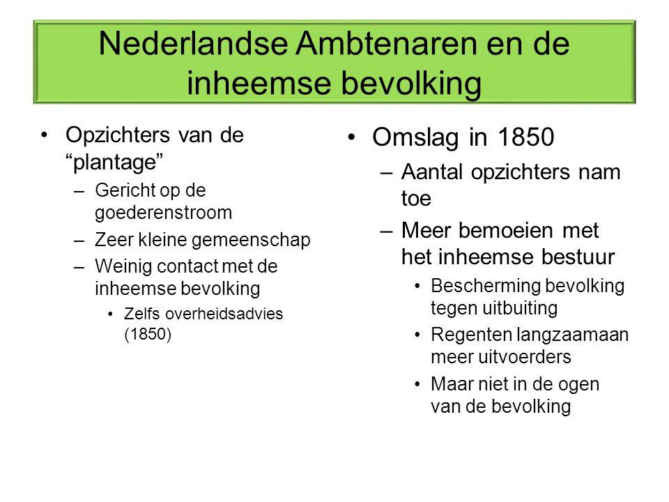 Nederlandse Ambtenaren en de inheemse bevolking