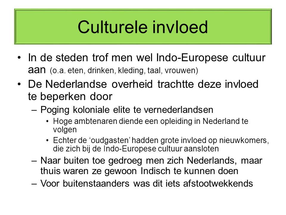 Culturele invloed In de steden trof men wel Indo-Europese cultuur aan (o.a. eten, drinken, kleding, taal, vrouwen)