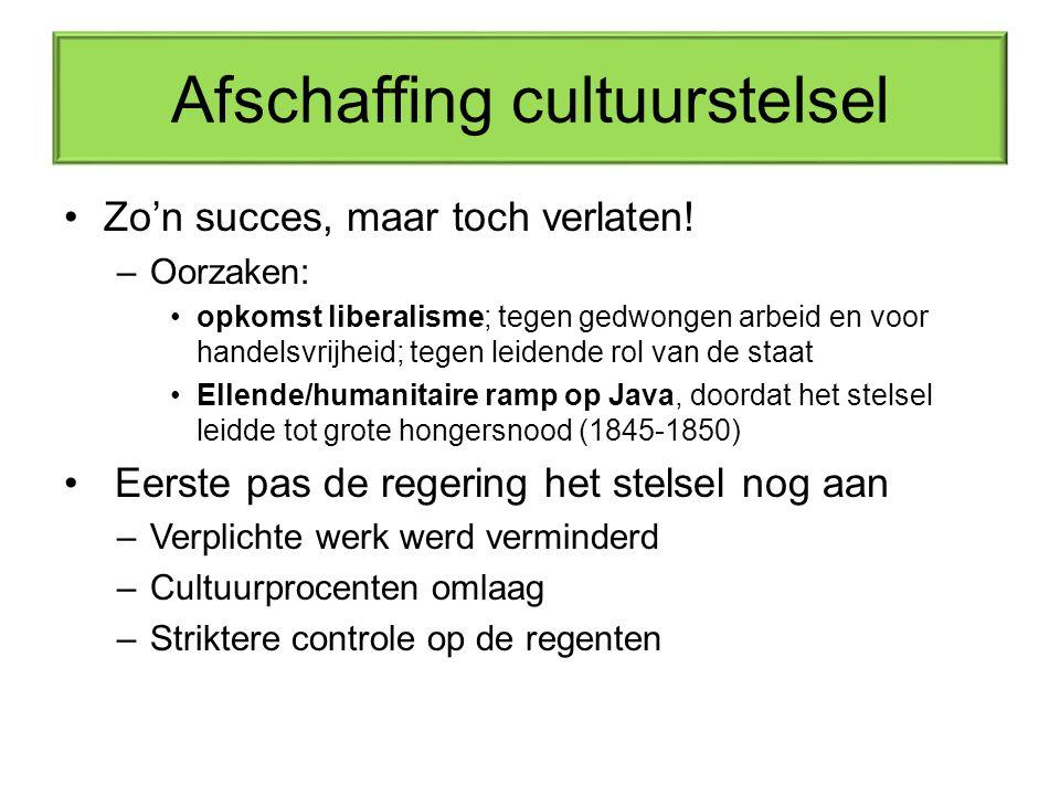 Afschaffing cultuurstelsel