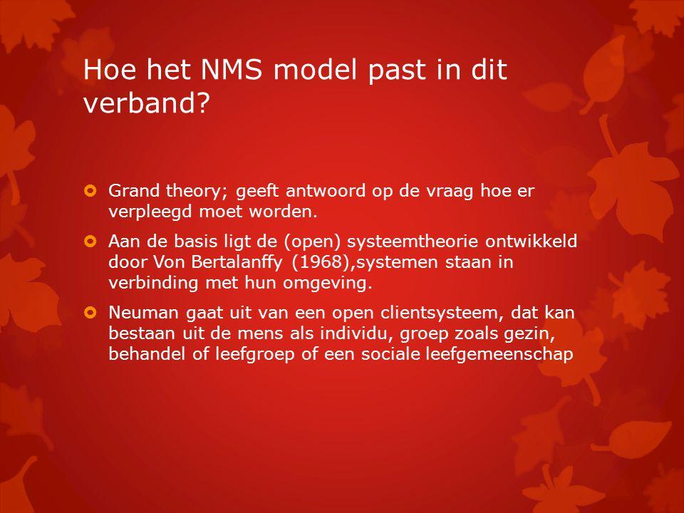 Hoe het NMS model past in dit verband